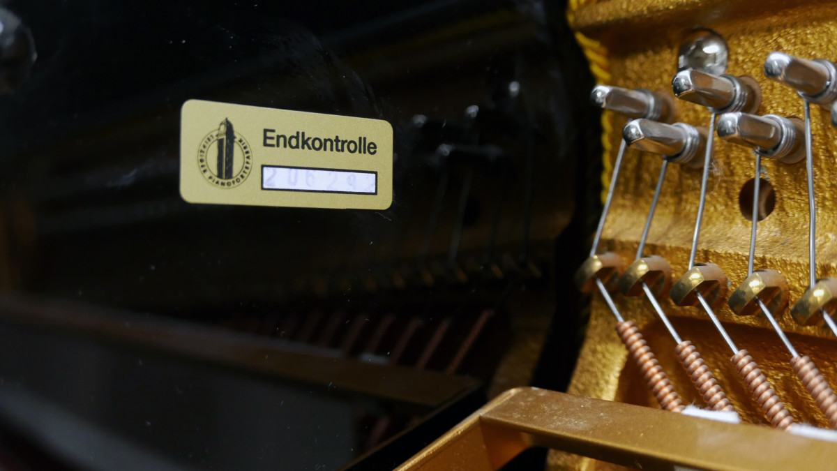 piano vertical Rönish #206292 numero de serie interior