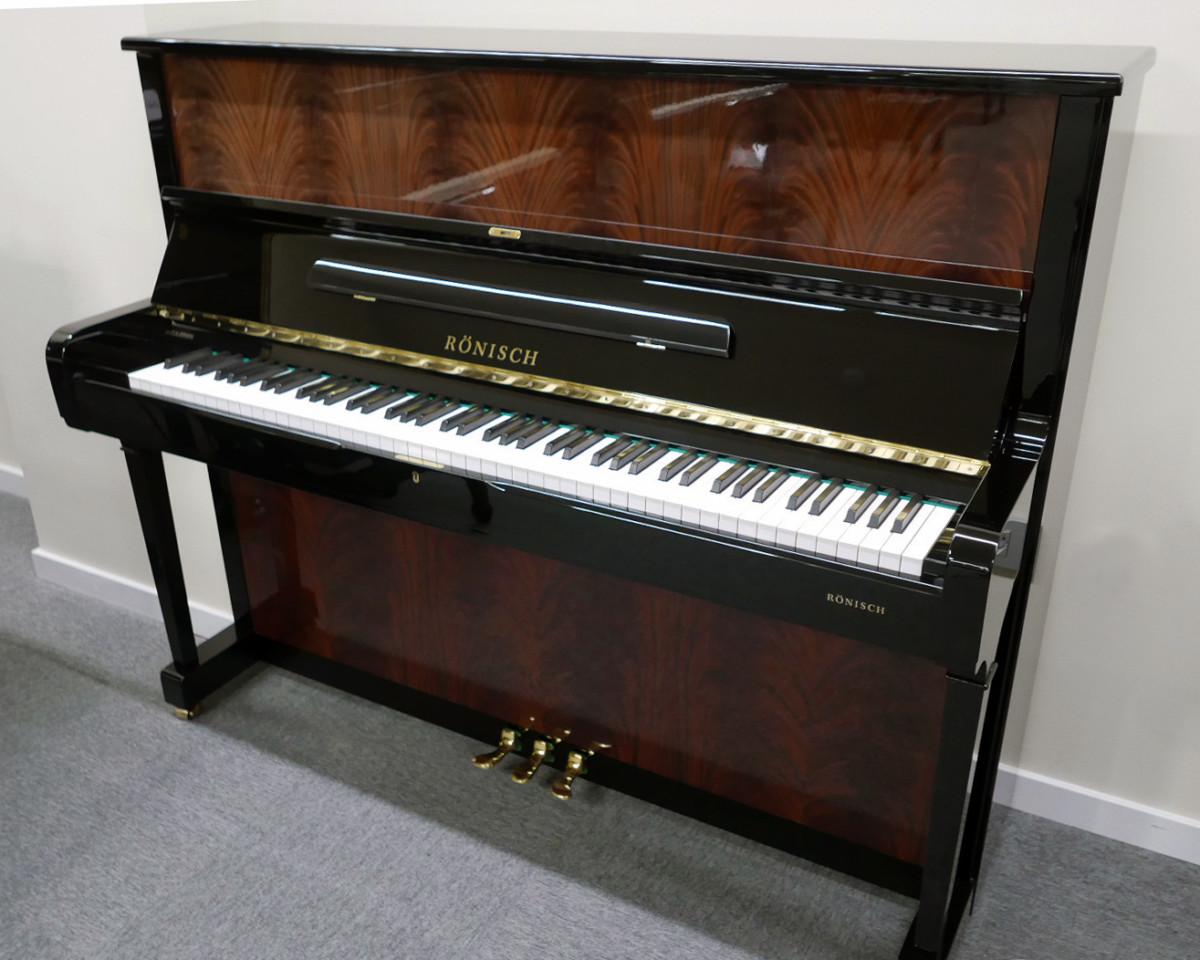 piano vertical Rönish #206292 vista general tapa abierta