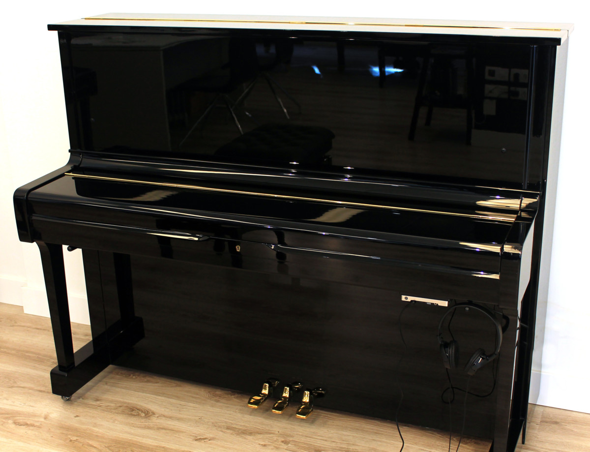 piano vertical Yamaha U1 #2901165 plano general tapa cerrada