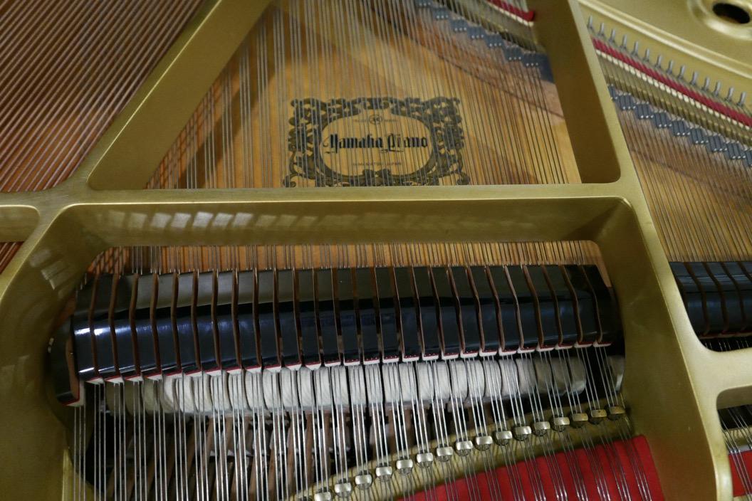 Piano-de-cola-Yamaha-G3-4490162-bastidor-tabla-armonica-apagadores-logo-cuerdas-segunda-mano