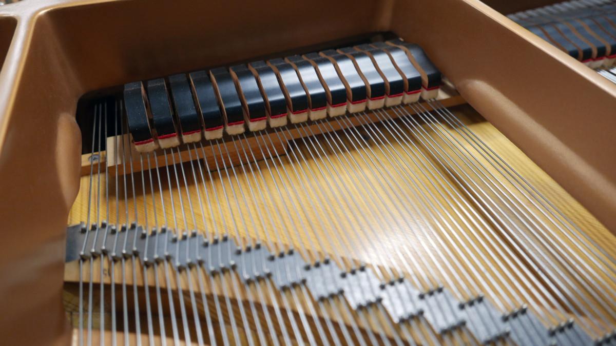 piano de cola Yamaha C5 #5449040 detalle apagadores cuerds