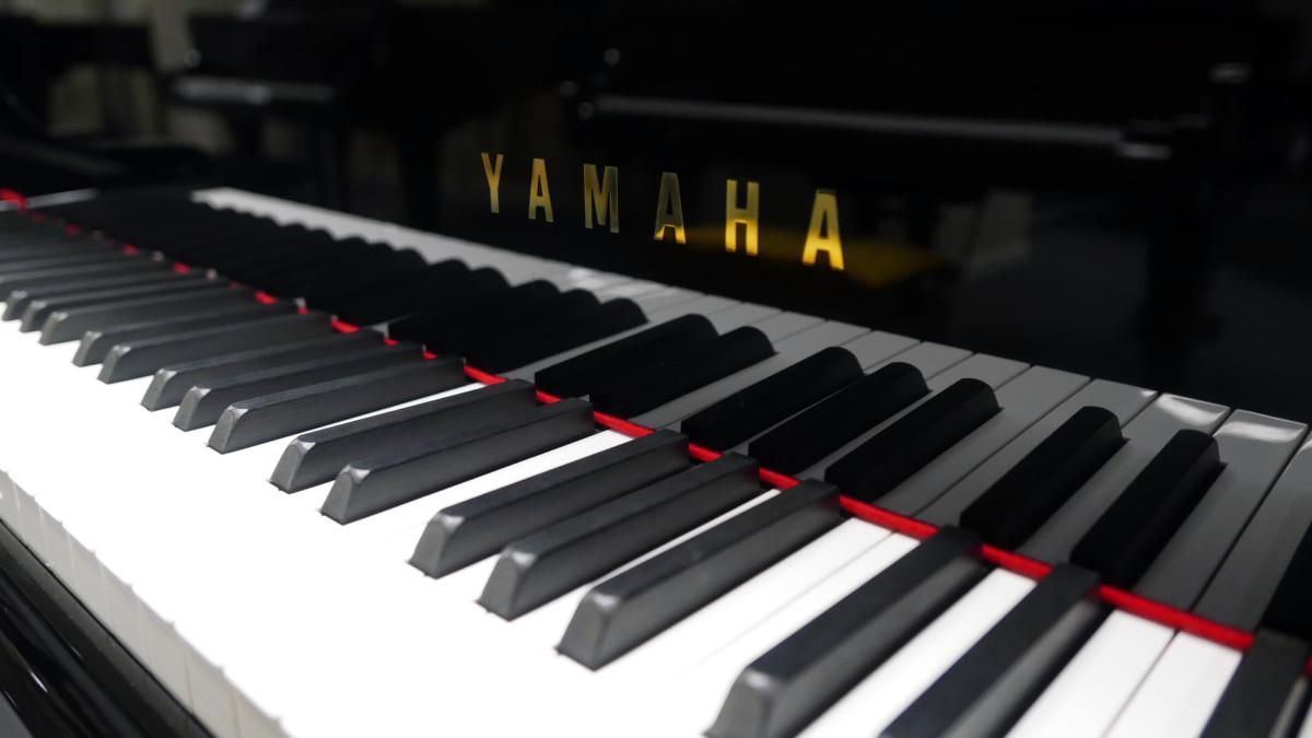 piano de cola Yamaha C5 #5449040 teclado teclas marca