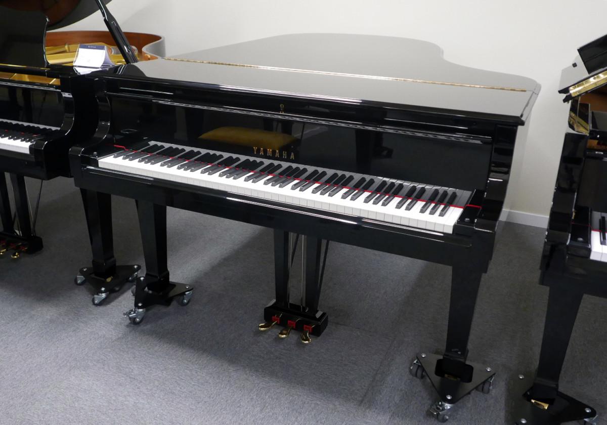 piano de cola Yamaha C5 #5449040 vista general tapa abierta