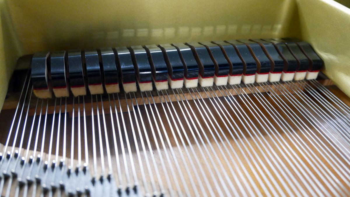 piano de cola Yamaha C7 #3040352 apagadores interior