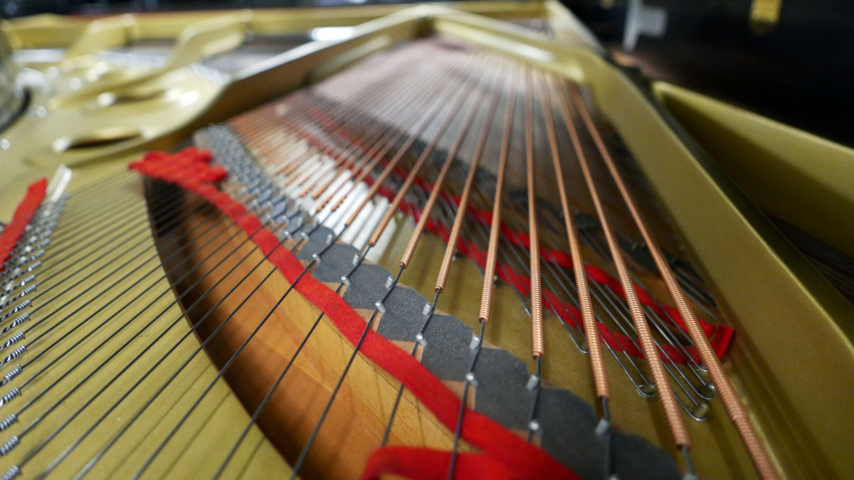 piano de cola Yamaha C7 #3040352 fieltros cuerdas interior