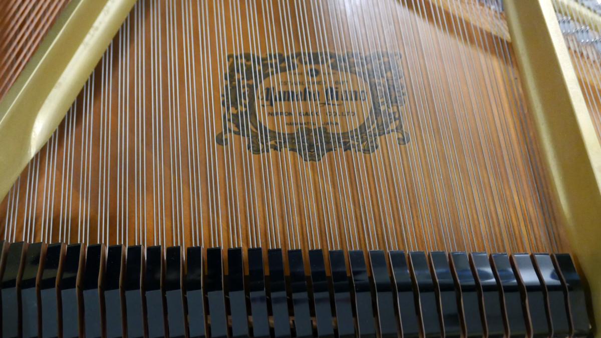 piano de cola Yamaha C7 #3040352 tabla armonica cuerdas apagadores marca