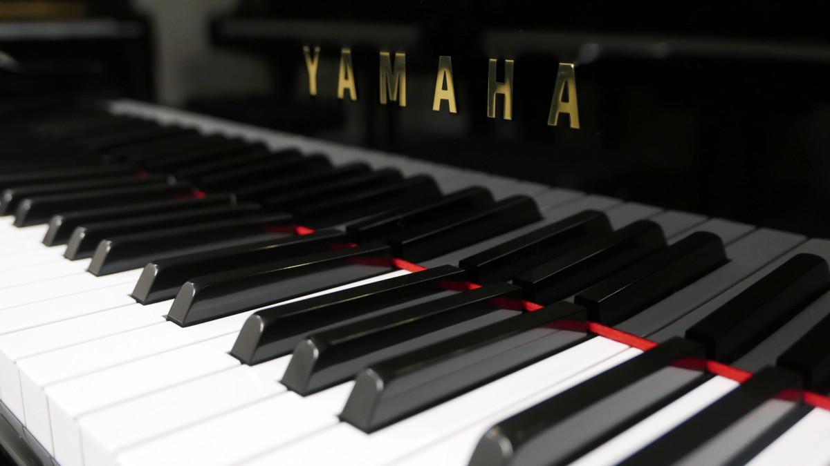 piano de cola Yamaha C7 #3040352 teclado teclas marca