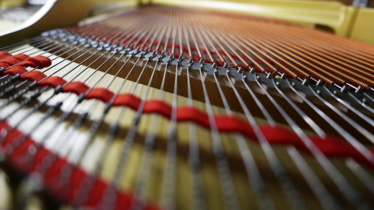 piano de cola Yamaha G2 #5220385 fieltro cuerdas