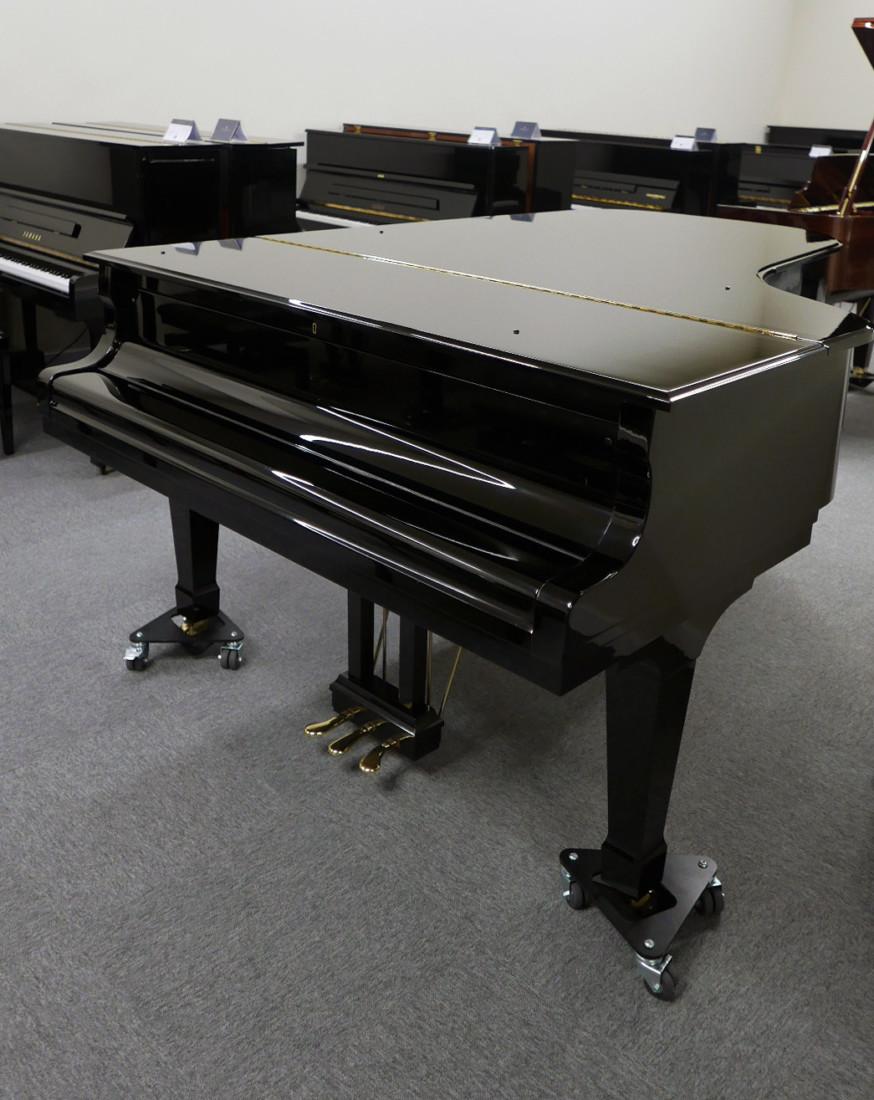 piano de cola Kawai RX7 #2286204 vista general tapa cerrada teclado abierto