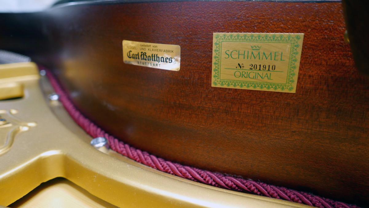piano de cola Schimmel 150 #201910 numero de serie modelo