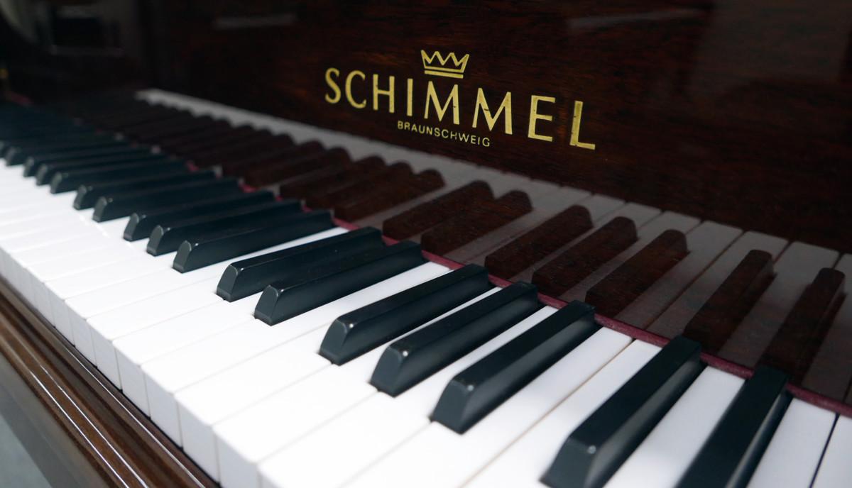 piano de cola Schimmel 150 #201910 teclas teclado marca