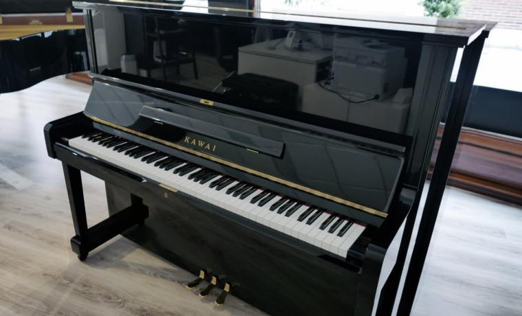 piano vertical Kawai NS15 #1571589 vista general tapa abierta