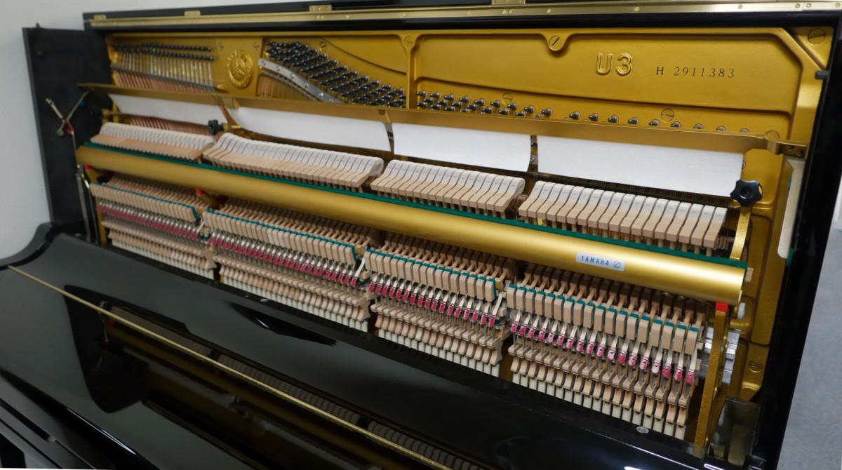 piano vertical Yamaha U3 #2911383 vista general mecanica interior