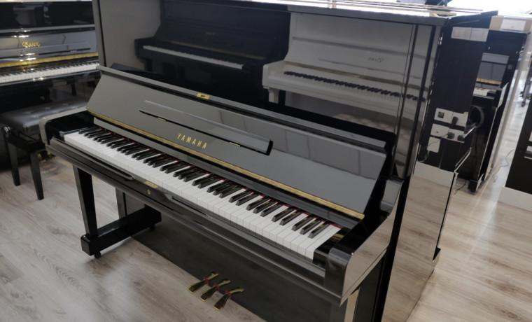 piano vertical Yamaha U3 #4262998 vista general tapa abierta