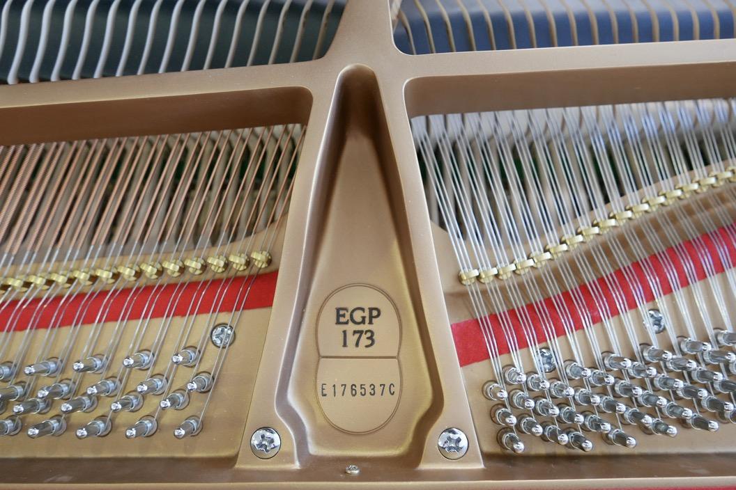 Piano_de_cola_Essex_EGP173C_176537_detalle_clavijas_cuerdas_fieltros_bastidor_modelo_numero_de_serie_segunda_mano