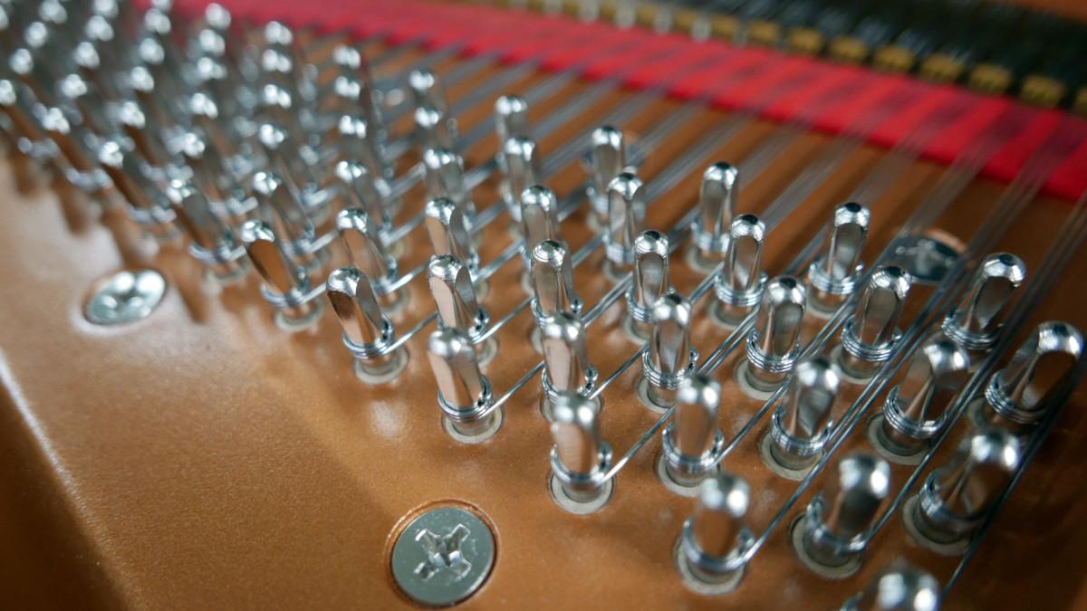 piano de cola Yamaha C6X #6350150 clavijero clavijas interior
