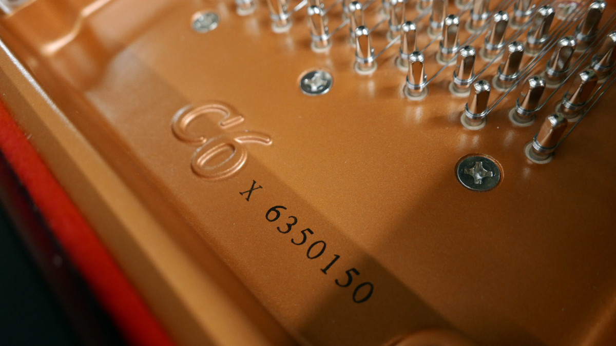 piano de cola Yamaha C6X #6350150 numero de serie modelo clavijero clavijas