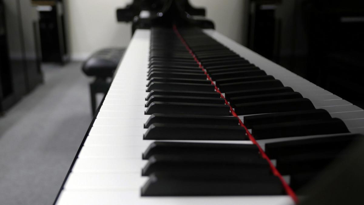 piano de cola Yamaha C6X #6350150 vista lateral teclado teclas