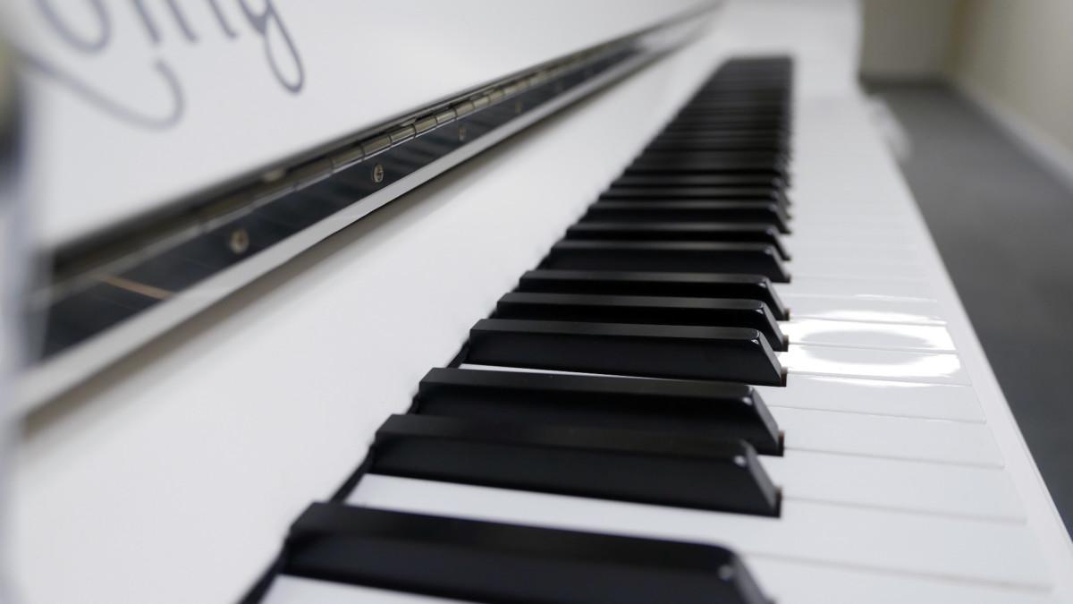 piano vertical König K109 #11771 vista lateral teclado teclas