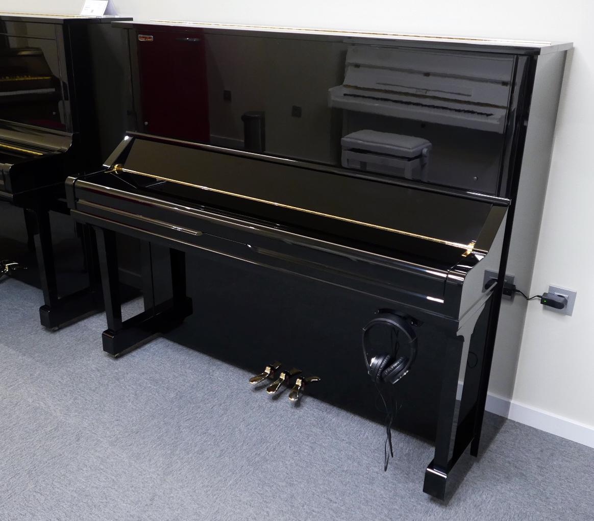 piano vertical Yamaha YS30SB Silent #6082612 vista general tapa cerrada