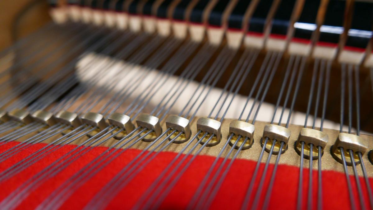 piano de cola Yamaha C3 #4791705 detalles agrafes interior