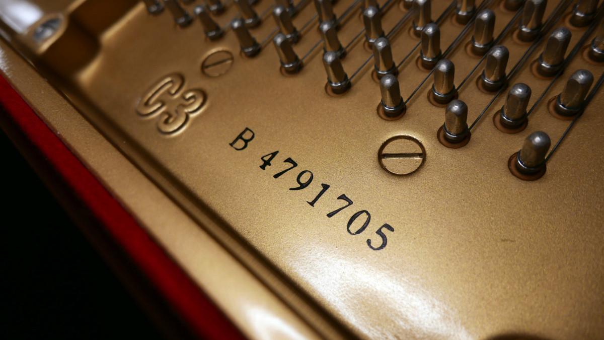 piano de cola Yamaha C3 #4791705 numero de serie modelo arpa clavijero