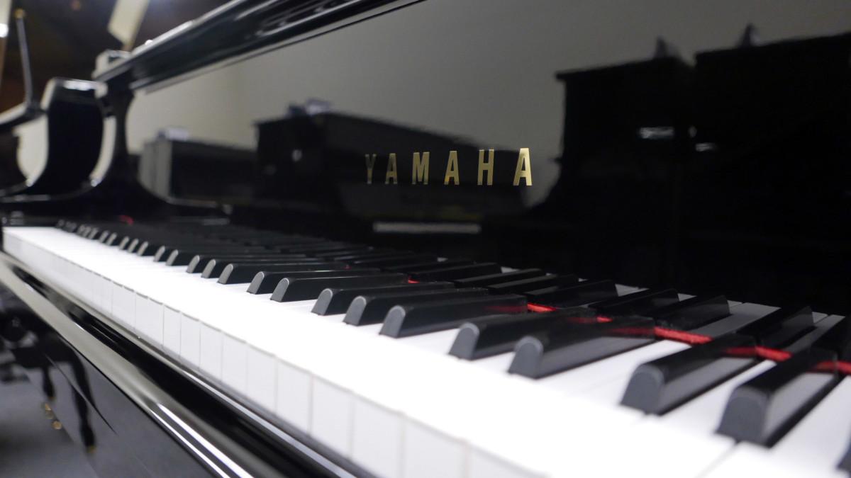 piano de cola Yamaha G5 #5260677 teclado teclas marca