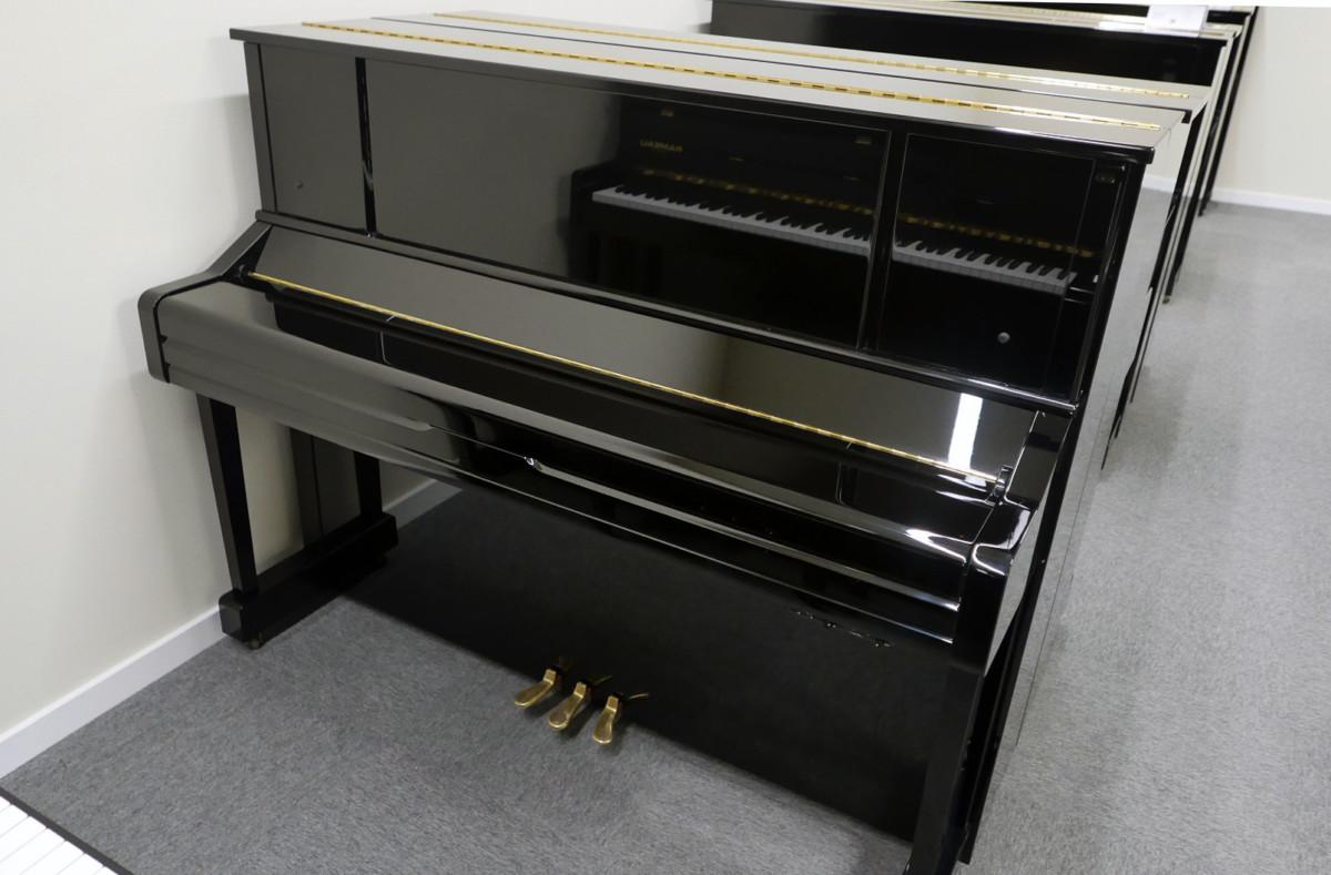 piano vertical Yamaha YU10SEB Silent #5965938 vista general tapa cerrada