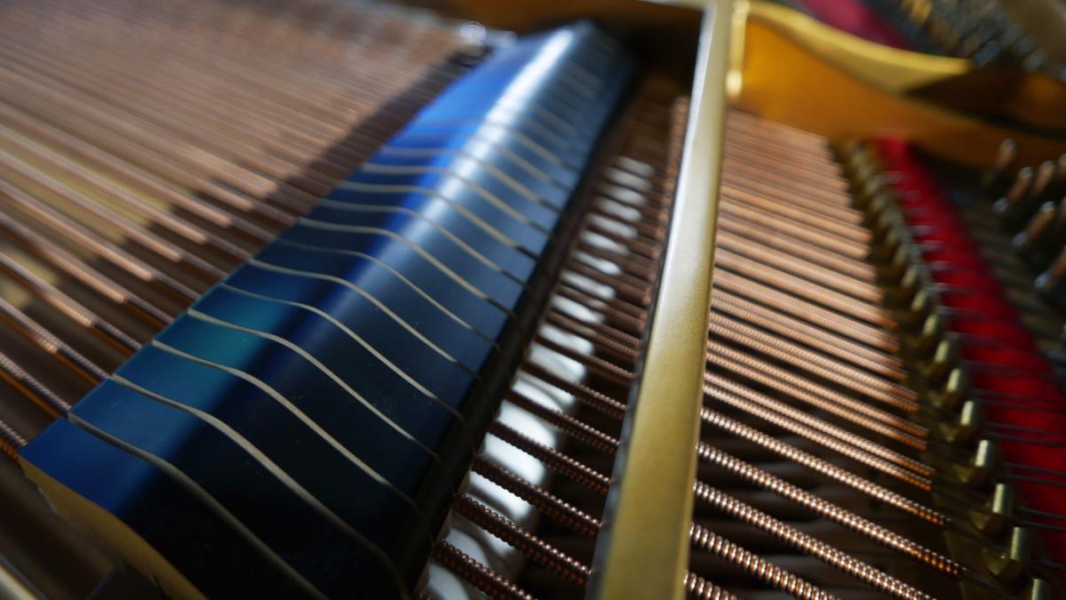 piano de cola nuevo SEMINUEVO. Steinway & Sons M170 Spirio #607508 detalle apagadores cuerdas