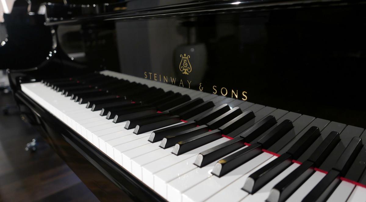 piano de cola nuevo SEMINUEVO. Steinway & Sons M170 Spirio #607508 teclado teclas marca