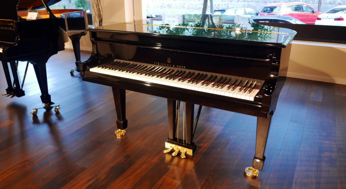 piano de cola nuevo SEMINUEVO. Steinway & Sons M170 Spirio #607508 vista general tapa abierta