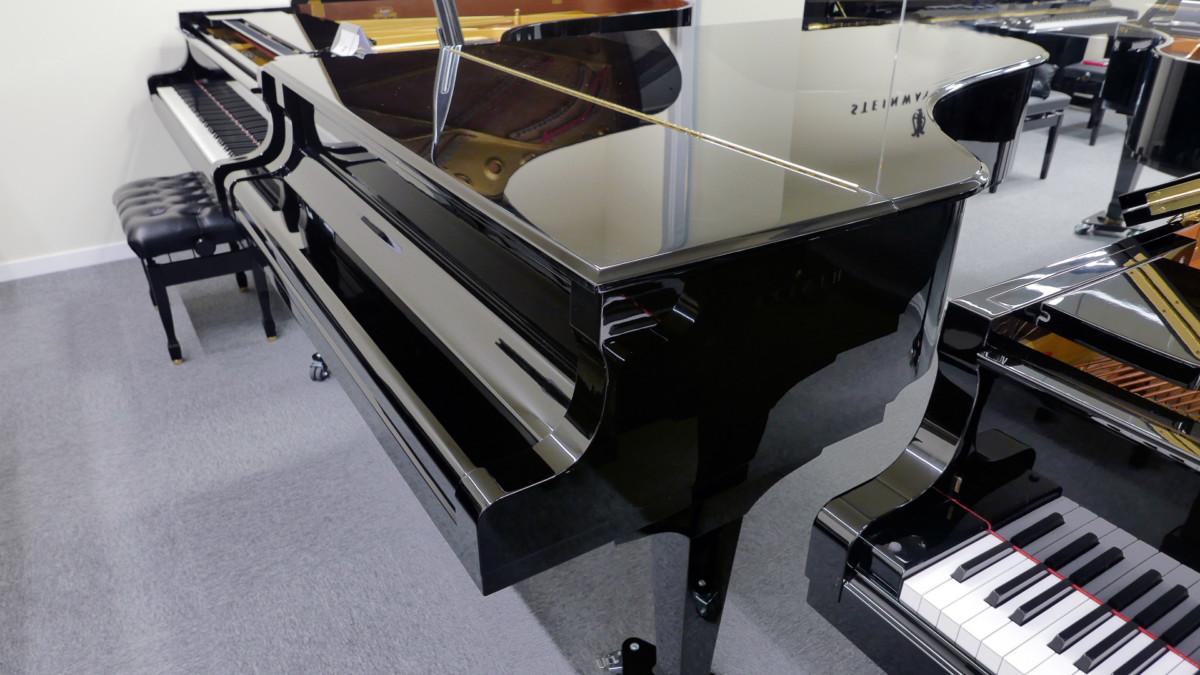 piano de cola Yamaha C7 #5847104 plano general tapa teclado cerrada