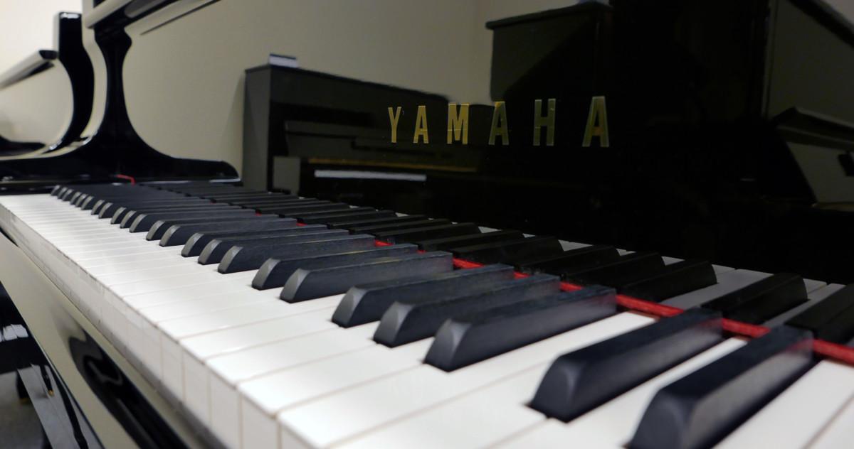 piano de cola Yamaha C7 #5847104 teclado teclas marca