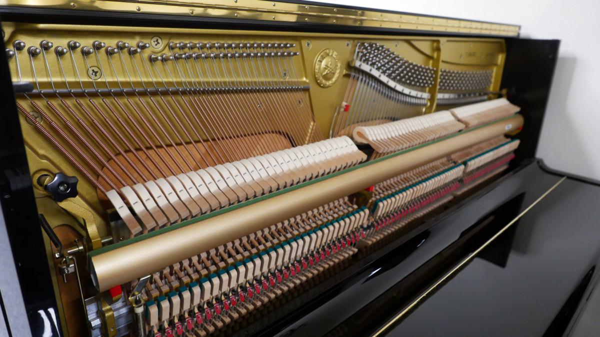 piano vertical Yamaha U100 Silent #5419204 vista general lateral mecanica interior