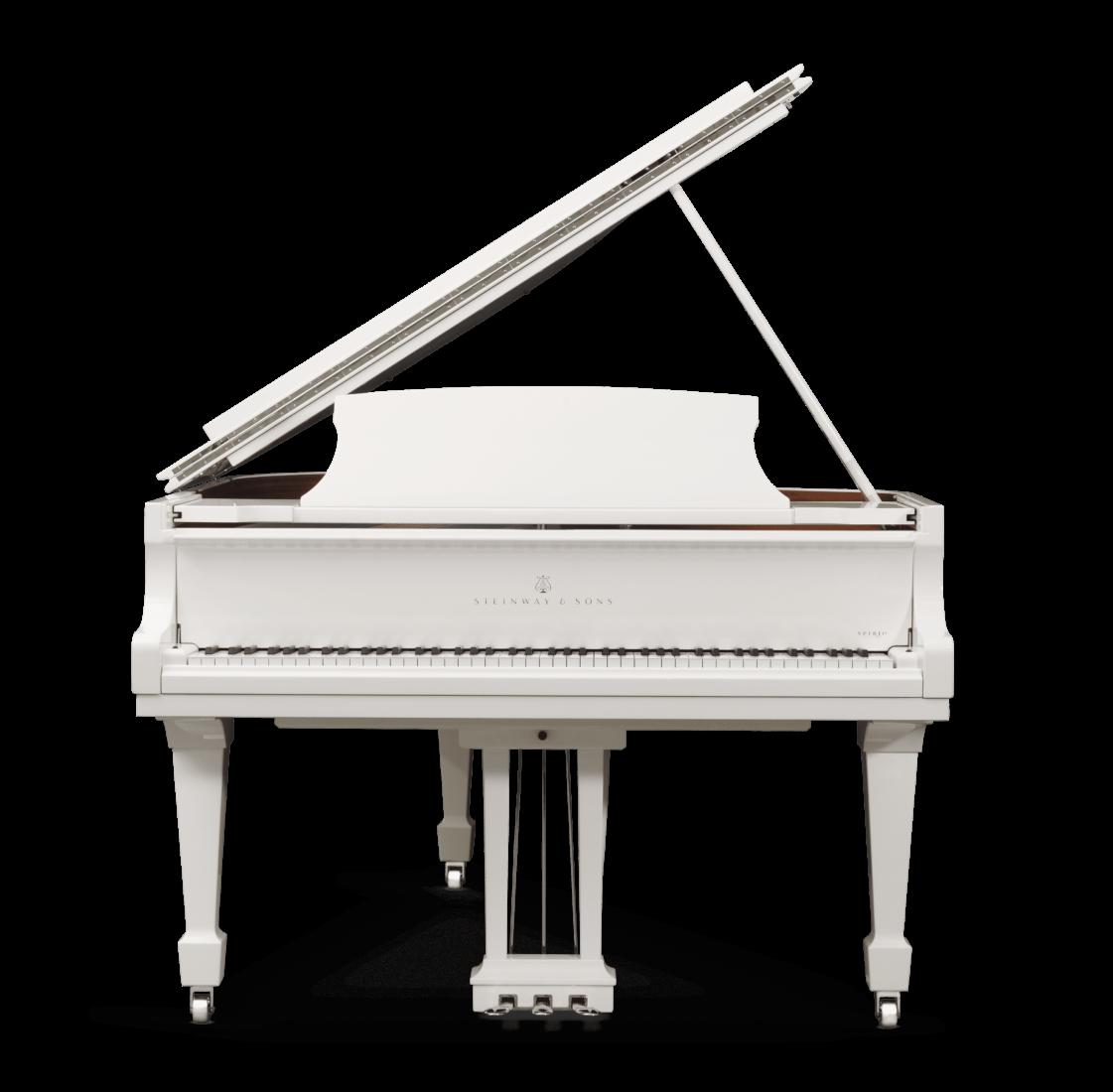 piano de cola Steinway & Sons Spirio O180 Chrome plano frontal