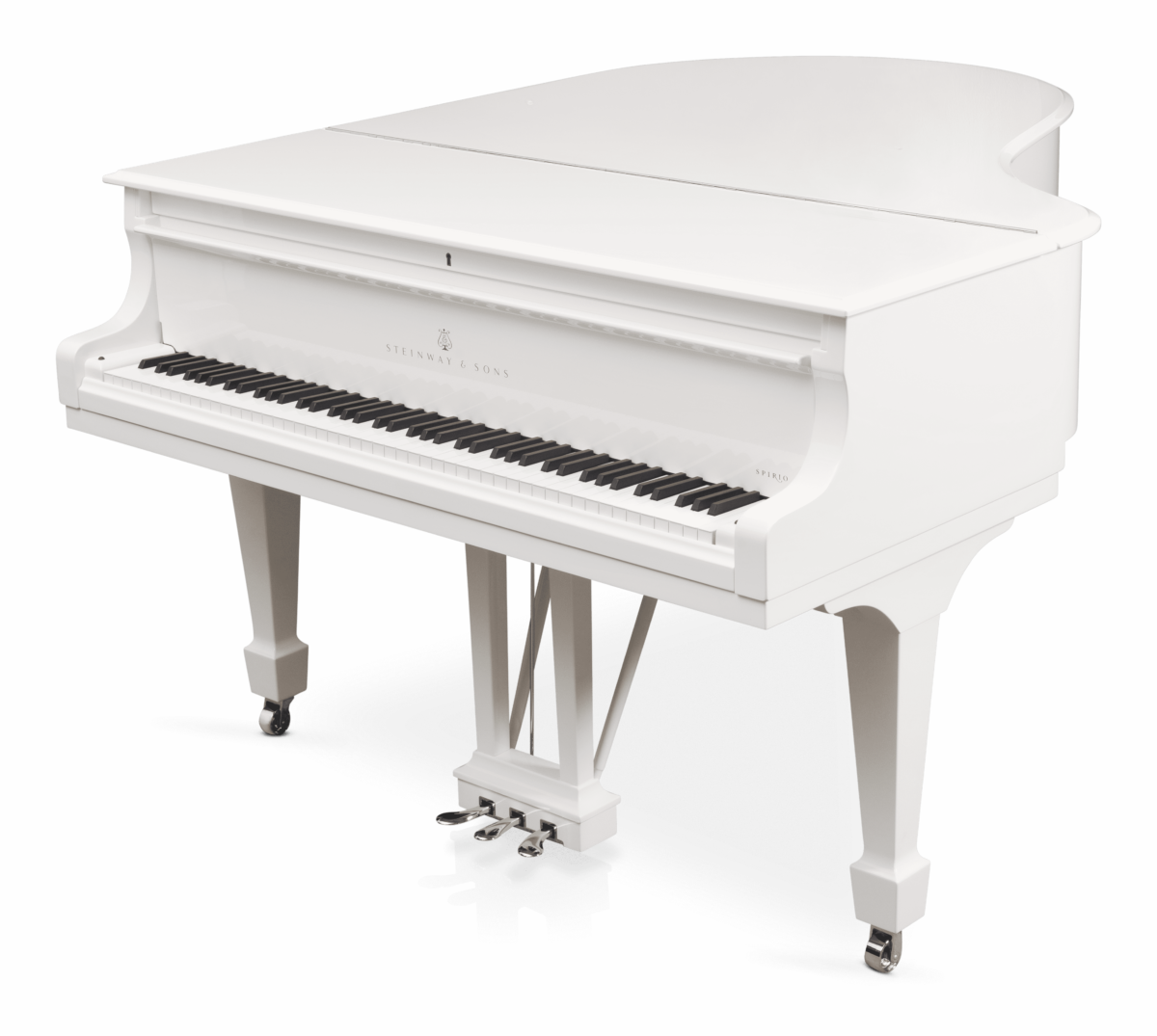 piano de cola Steinway & Sons Spirio O180 Chrome plano general tapa cerrada