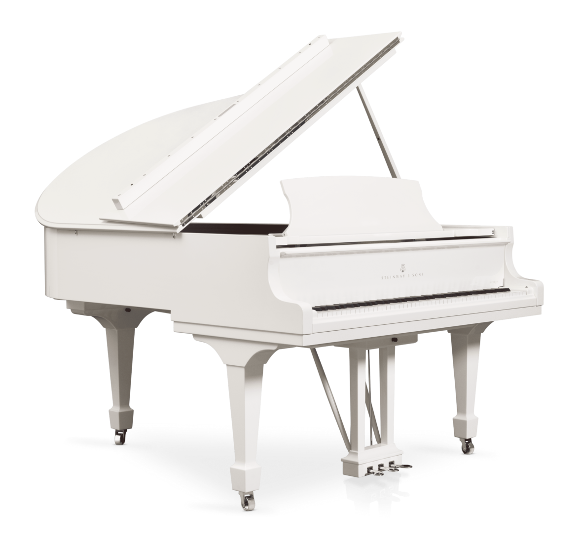 piano de cola Steinway & Sons Spirio O180 Chrome plano general lateral 1