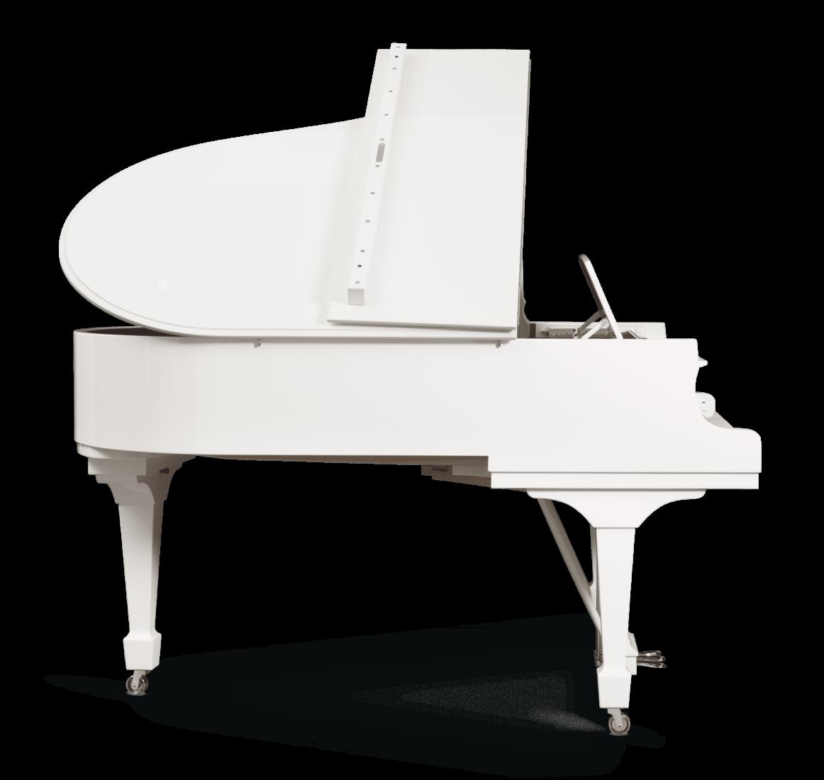 piano de cola Steinway & Sons Spirio O180 Chrome plano general lateral 2