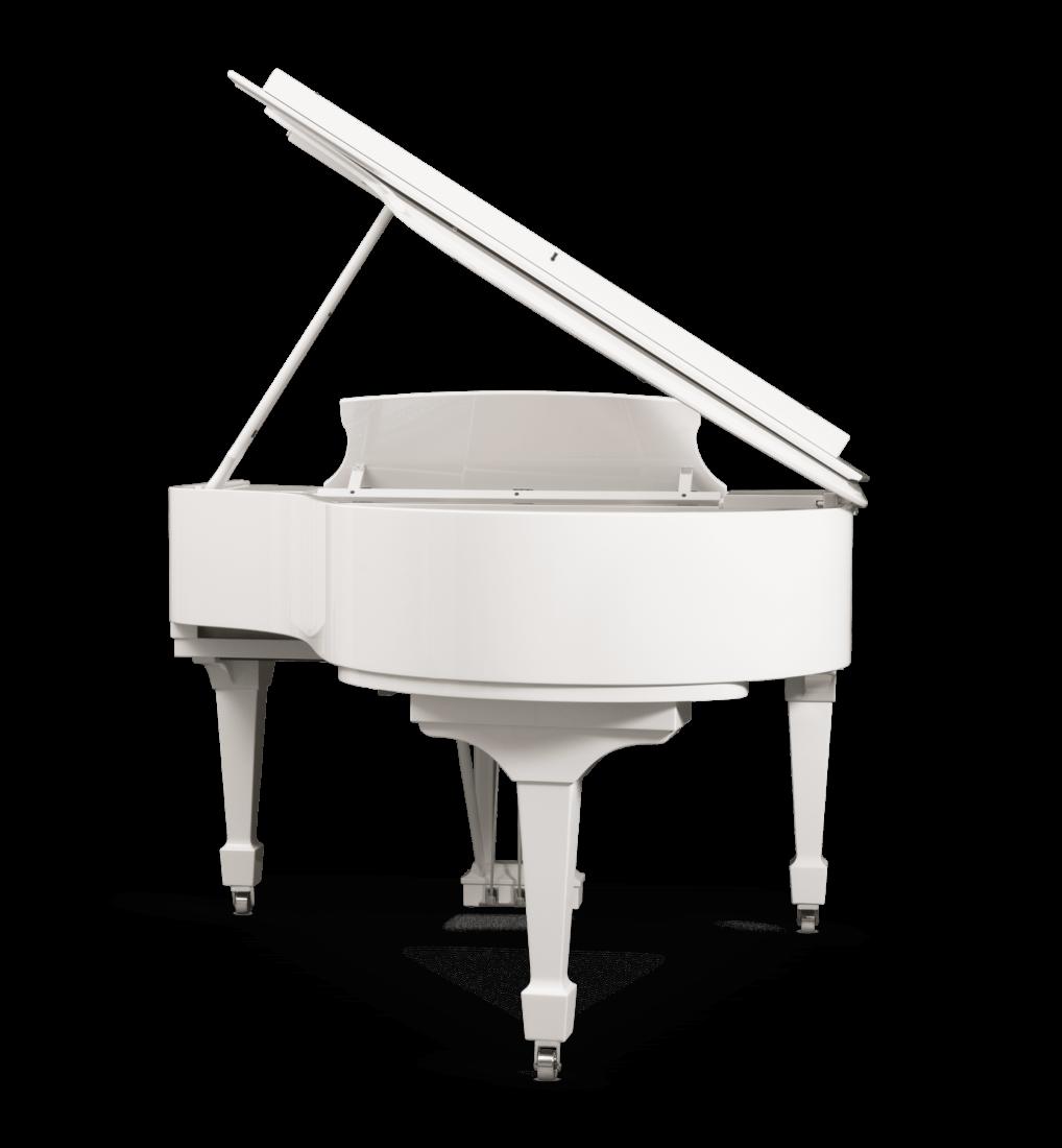piano de cola Steinway & Sons Spirio O180 Chrome plano general vista trasera