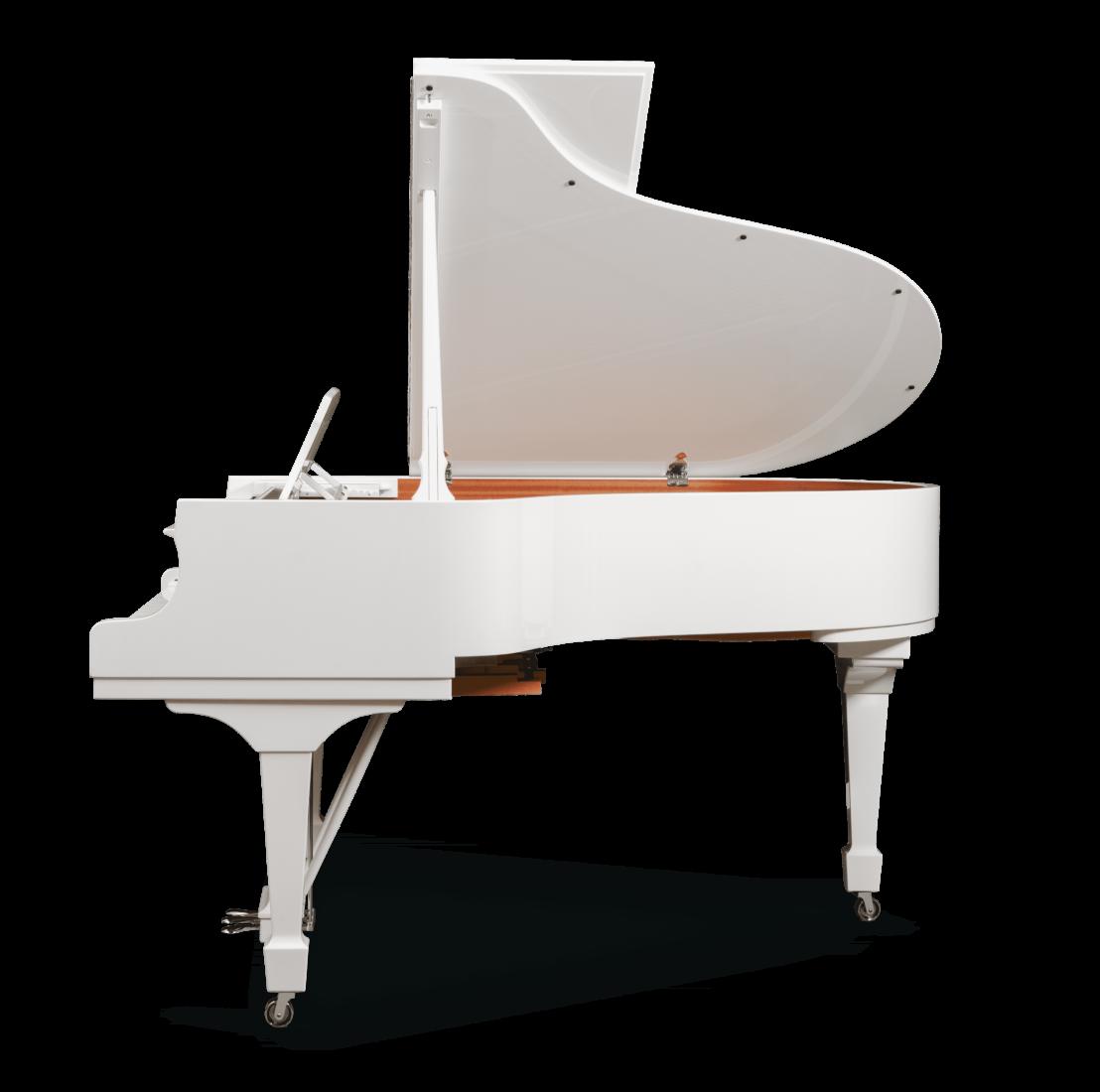 piano de cola Steinway & Sons Spirio O180 Chrome plano general lateral 3