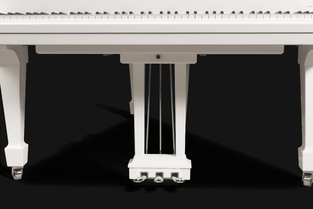 piano de cola Steinway & Sons Spirio O180 Chrome detalle pedales pedal