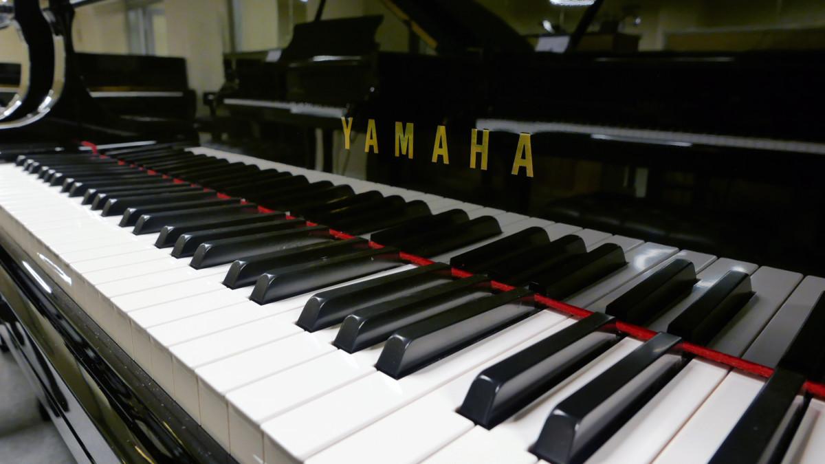 piano de cola Yamaha C1 Silent #6397127 teclado teclas marca