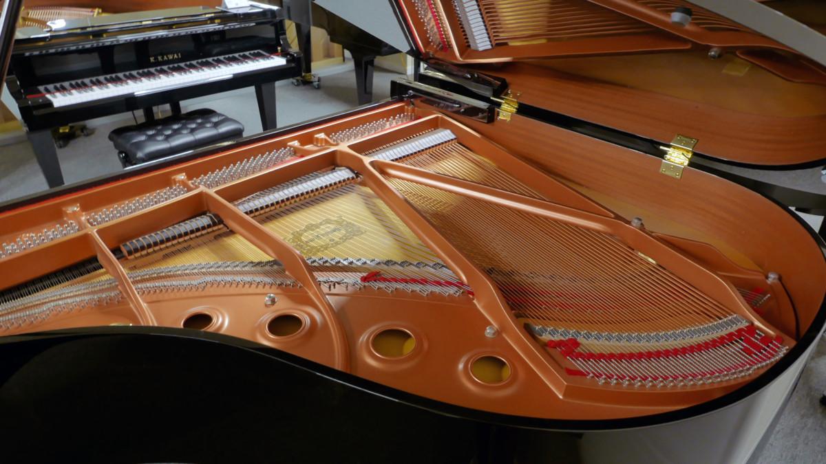 piano de cola Yamaha C1 Silent #6397127 vista trasera general mecanica interior
