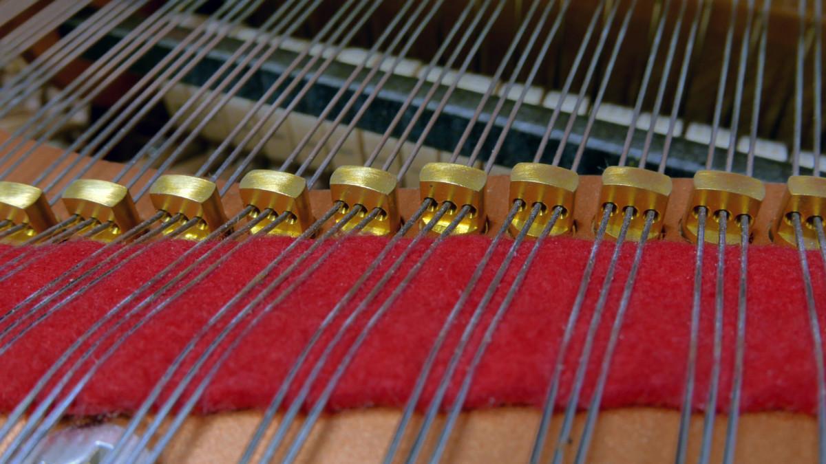 piano de cola Yamaha C3X #6366252 detalle agrafes