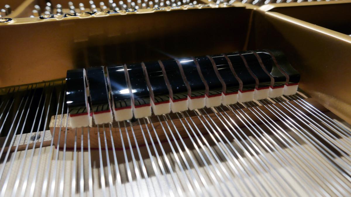 piano de cola Steinway & Sons O180 #109477 detalle apagadores cuerdas