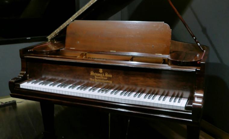 piano de cola Steinway & Sons O180 #109477 plano general tapa abierta