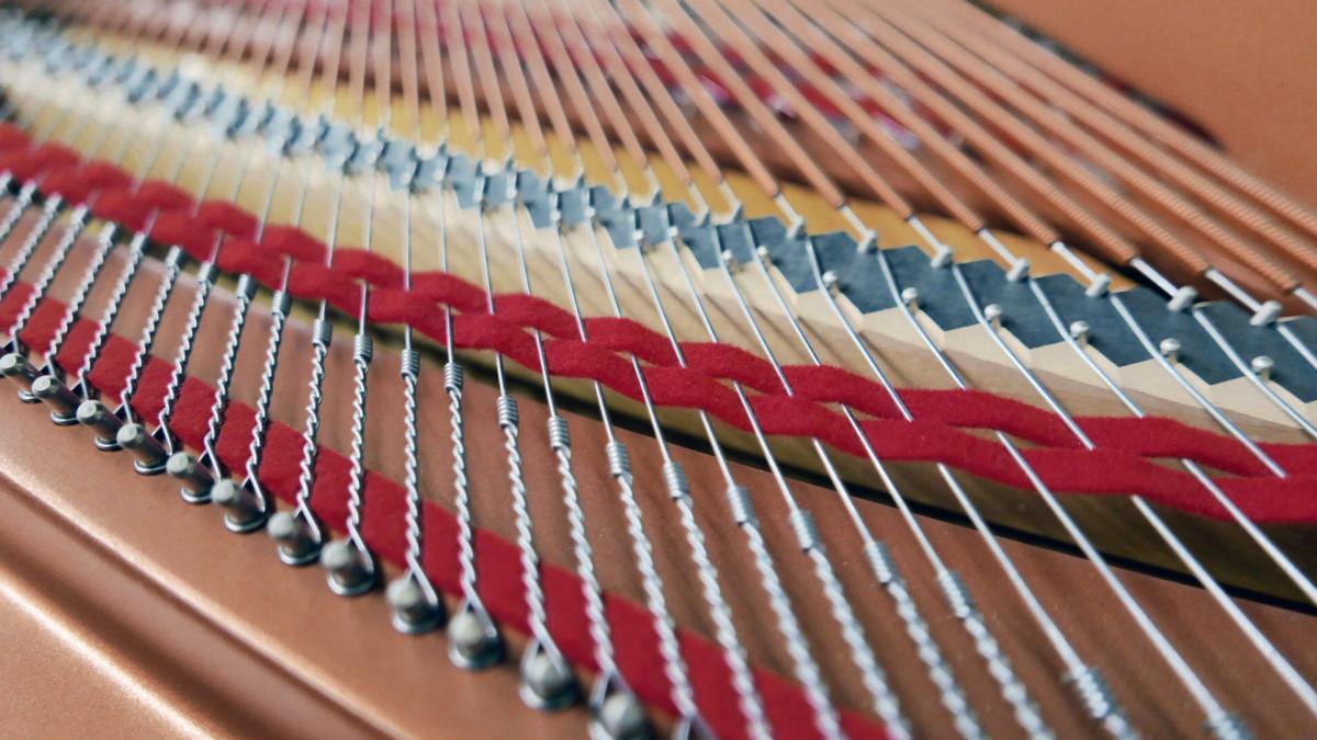 piano de cola Yamaha C3X #6349992 cuerdas fieltros