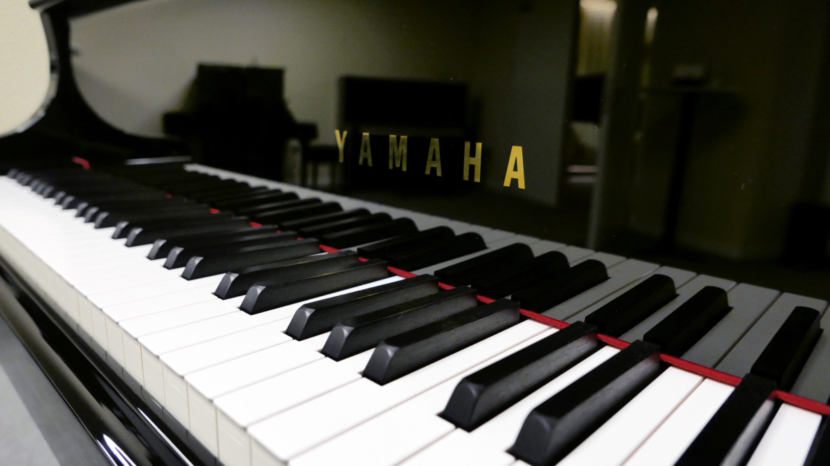 piano de cola Yamaha C5X #6515402 teclado teclas marca