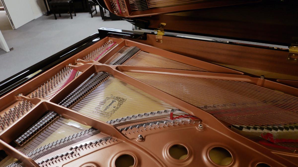 piano de cola Yamaha C5X #6515402 vista cenital mecanica interior